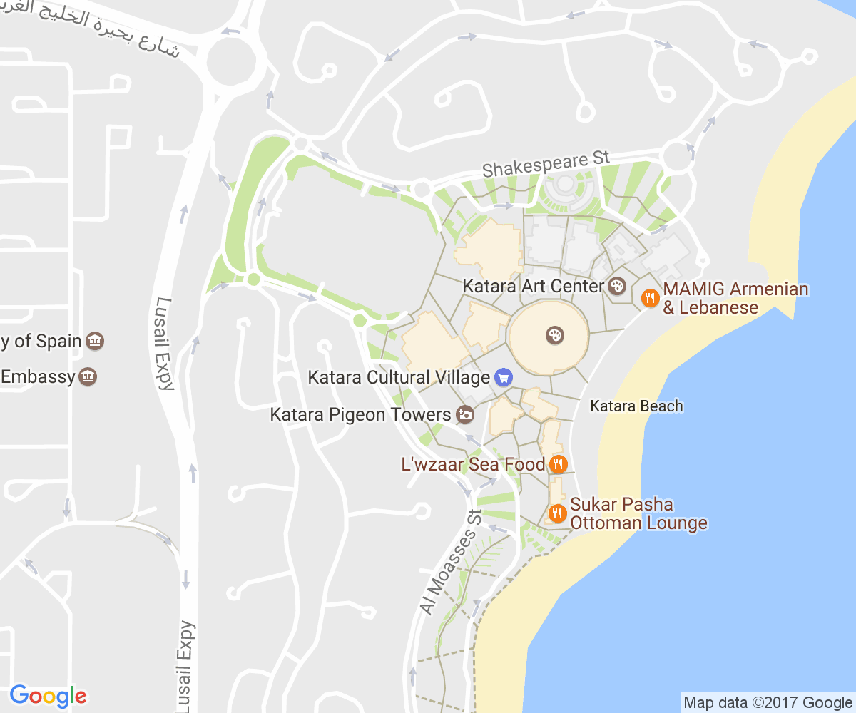 Google Map of Katara, Opera House